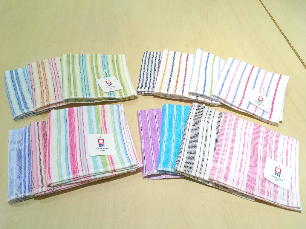 Shirt stripe MINI TOWEL/ シャツストライプ ミニタオル